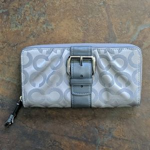 Coach Signature Canvas Wallet with Buckle